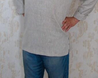 Linen shirt men's/Linen summer shirt/Long sleeve/Men's Dress Shirt with Custom/Linen shirt/Linen men's shirt/grey shirt/mens dress shirts