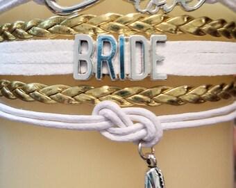 Bride Charm Bracelet - BRIDE - Bride Bracelet - Wedding Bracelet
