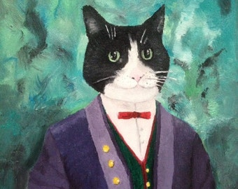 Cat Portrait - custom made oil painting