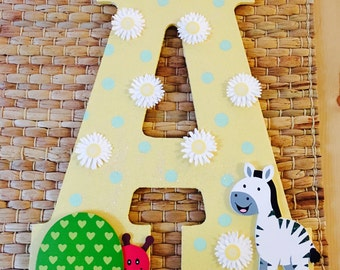 Baby Name Monogram - Personalized A-Z