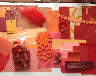 Collage Kit in Red and Orange