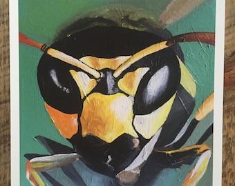 """Paper Wasp, 10""""x10"""" Fine Art Print"""