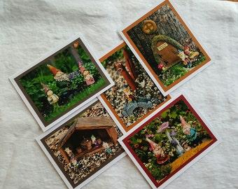 Photo Greeting Cards - Gnomes