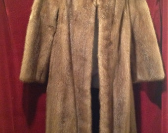 1940's /1950's  Full Length Ladies MINK Fur Coat /  Label - Paul's of London.
