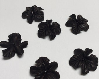 Black Orchid Beads - 6 Pieces - #378