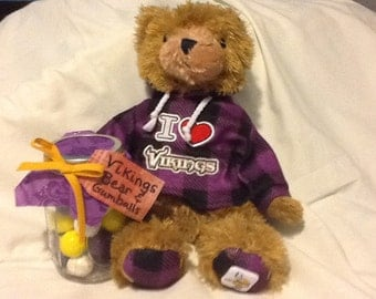 Viking Teddy Bear With Gumball Gift Set