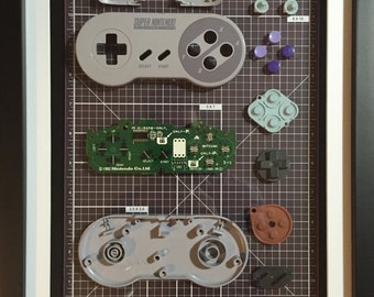 Video Game Art deconstructed SNES Controller