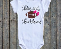 Tutus and Touchdowns/ Baby girl onesie®/ baby girl outfit/ Football onesie®/ Baby girl football/ Little sister onesie®/ NFL/ Baby onesies®
