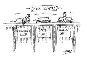 Novelty Gifts Dump Cartoon Print