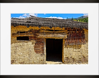 Lake hut print Ohrid photo, Macedonia photography, Europe, fine art, wall art, home decor, HDR.