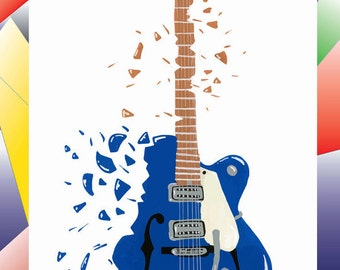 Music impact - blue-