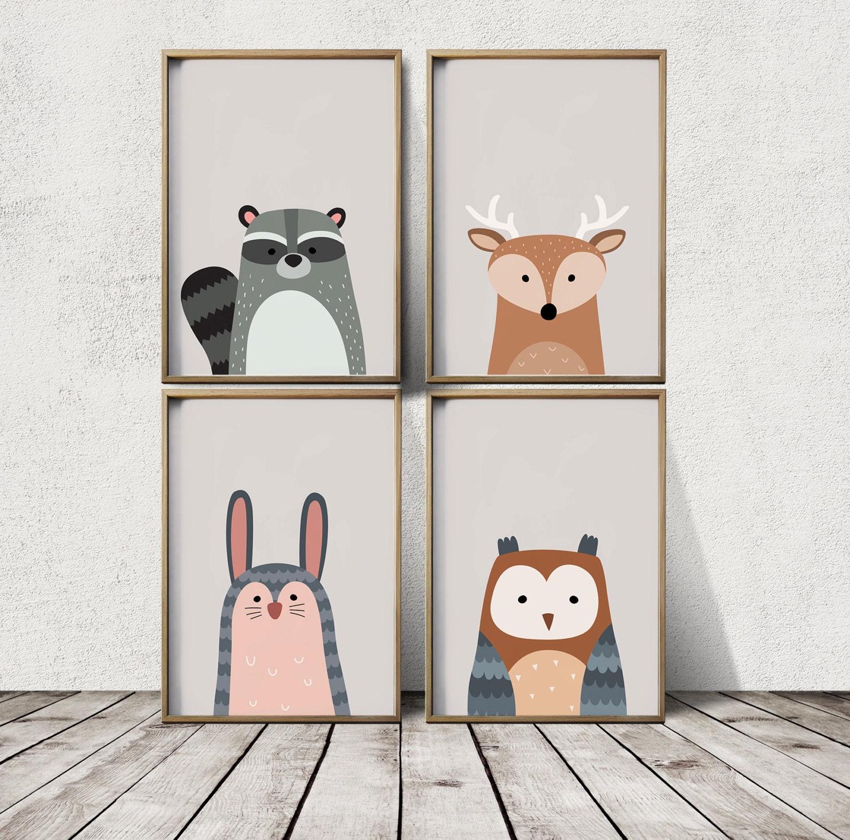 nursery wall art woodland nursery decor nursery prints nursery