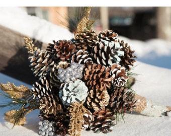 Custom Pinecone Bridal Bouquets - Made to Order