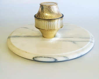 Vintage 1930's Gold and White Avon Jewelry & Ring Dish/Box/Container