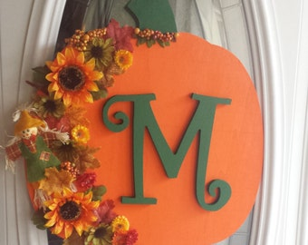 Wood Pumpkin Harvest Sign - Personalized