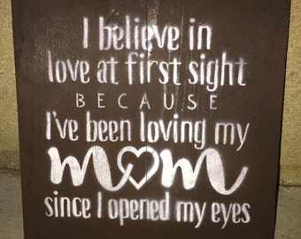 I believe in love at first sight sign