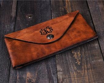 Personalized Clutch Leather Clutch wallet wedding clutch bag monogram clutch handbag    bridal clutch bridesmaid clutch purse