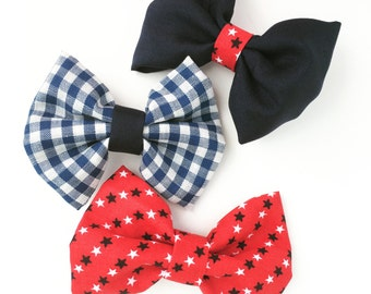 Red, White, and Blue Bow Set