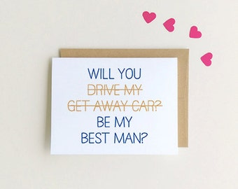 Will You Be My best man, Funny best man card SKU : FC117