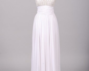 1970 Jewel Encrusted Goddess Vintage Wedding Gown