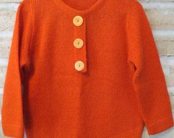 Vintage Orange Sweater