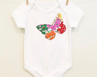 Organic Cotton Floral Butterfly Onesie