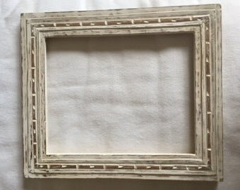 Handcarved wood frame