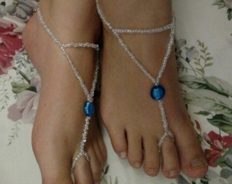 Footless Beaded Sandals