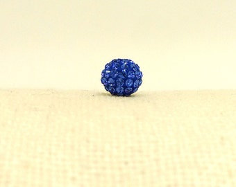 6mm Swarovski Round Bead, Sapphire and Blue Pave Ball, 86001, Rhinestone Bead, Spacer Beads, Large Loose Beads, Sparkly Beads, YC2985A