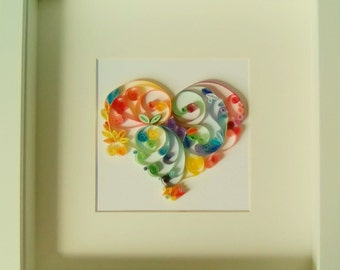 """Quilling paper art design: """"Love in all its Colours"""""""