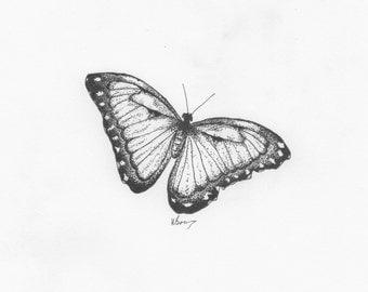 The Butterfly - Giclée Print (A5 Landscape)