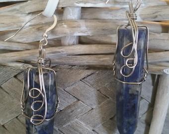 Sodalite Gemstone  Drop Earring