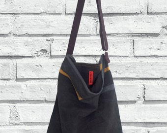 Crossbody Day Bag /  Father's Day / Canvas Crossbody bag / Men's bag / Men's Crossbody Bag / Gift for him / Canvas washed bag / Bag for Her