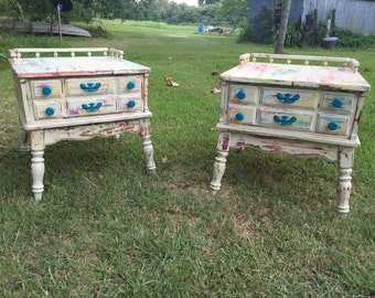 Watercolor End Tables