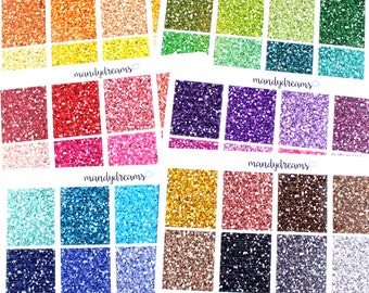 Chunky Glitter Headers Set