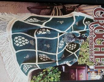 Vintage crochet patterns, pineapple  crochet throw pattern, pineapple afghan pattern crochet, Annie's crochet newsletter