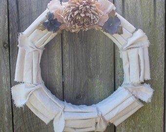 Rustic Glamourous Spring Winter Fall Wreath