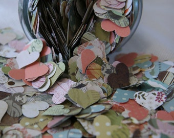 Romantic Vintage Heart Scatters - Wedding Table Decorations