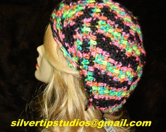 """Slouchy Hat, Bohemian (Hipster),  Color - """"RAVE"""", Breathable Loose Stitch, All Seasons, Slouch Beanie, Slouch Hat, Hat"""