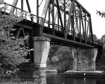 Black and White Bridge Photography, Bridge Photography, Photography Print