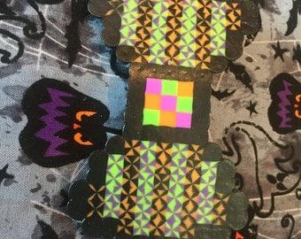 OOAK Halloween Pixel Bow