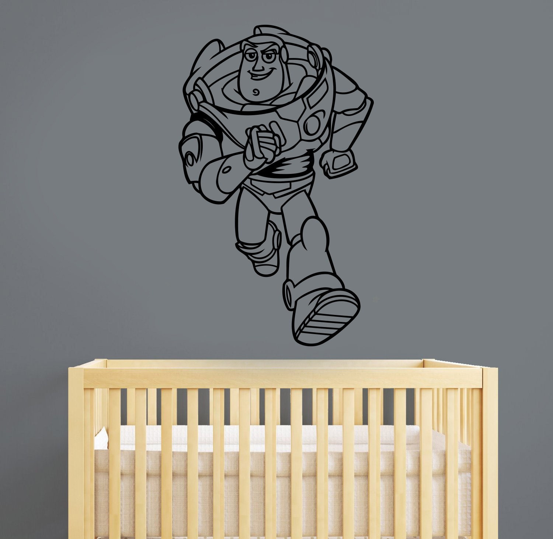 Toy Story Wall Light : Toy Story Wall Decal Buzz Lightyear Sticker Disney Cartoon Art