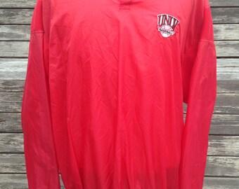 Vintage 90s UNLV REBELS baseball jacket - XL - drawstring windbreaker