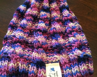 cabled infant/baby beanie,