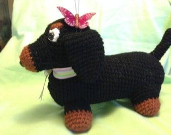 Crochet Dachshund Toy