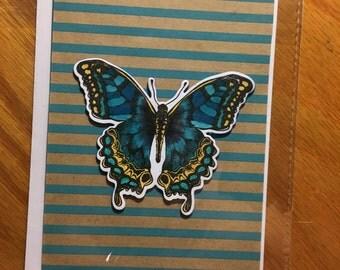 Simple Butterfly Card - Blank
