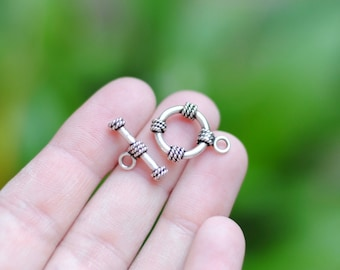 Sterling Silver Toggle Clasp / Sterling Closure / Silver Clasp / CSP005