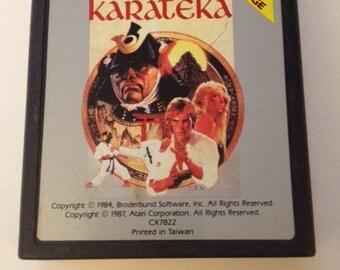 Atari 7800 Video Game Cartridge  Karateka