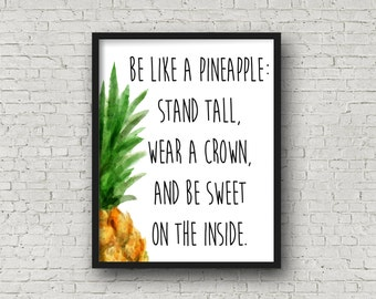 Pineapple Print Pineapple Stripe Digital Print Pineapple Printable Pineapples Pineapple Wallpaper Fruit Wallpaper Fruit Print
