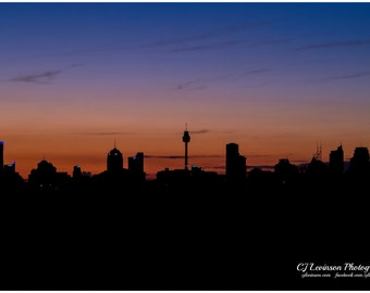 Sydney Twilight - original photograph, digital download, landscape photo
